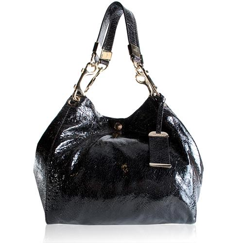 Jimmy Choo Lola Patent Shoulder Handbag