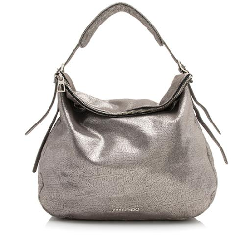 Jimmy Choo Metallic Leather Boho Hobo