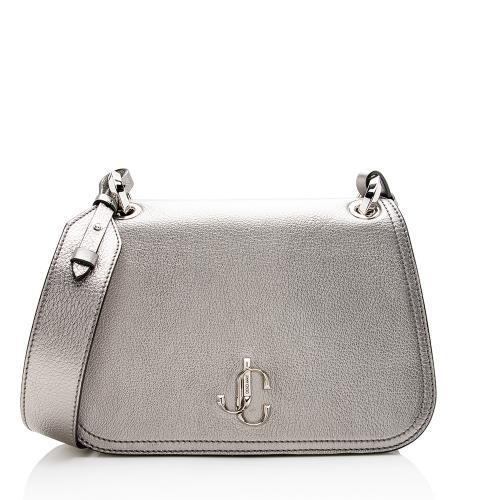 Jimmy Choo Metallic Leather Varenne Shoulder Bag
