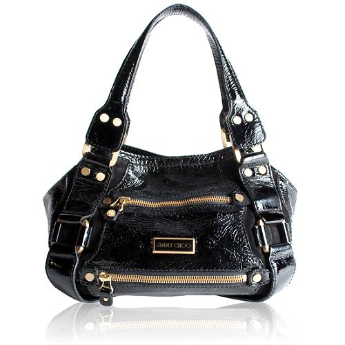 Jimmy Choo Patent Leather Mahala Satchel Handbag