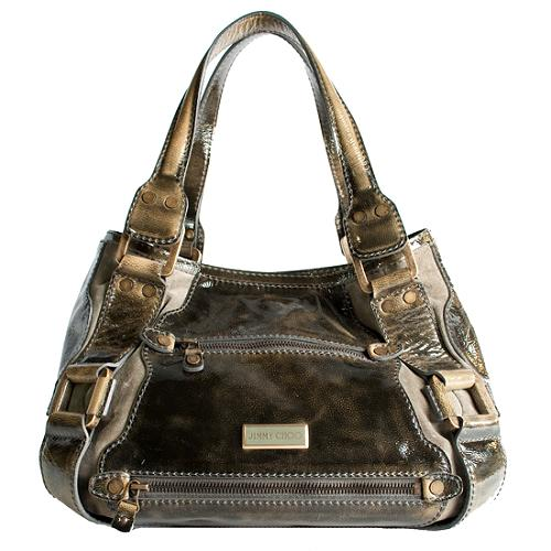 Jimmy Choo Patent Leather Mahala Satchel Handbag