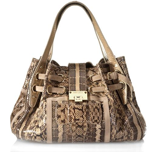Jimmy Choo Snakeskin Ramona Shoulder Handbag