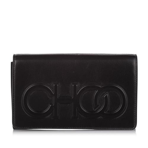 Jimmy Choo Sonia Leather Clutch Bag