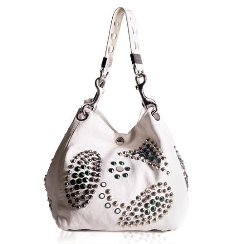 Jimmy Choo Studded Leather Lohla Convertible Shoulder Handbag