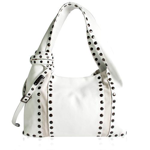 Jimmy Choo Studded Saba Hobo Handbag