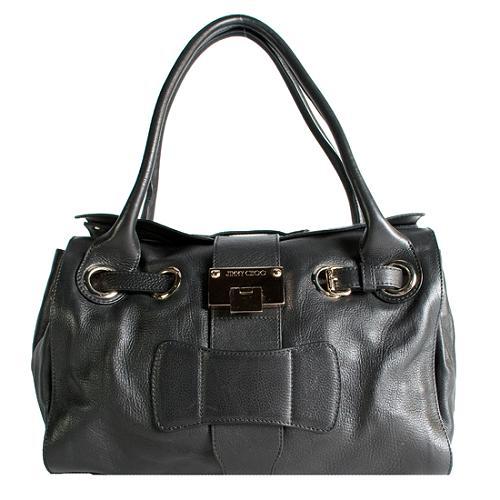 Jimmy Choo Vintage Leather Ross Satchel Handbag