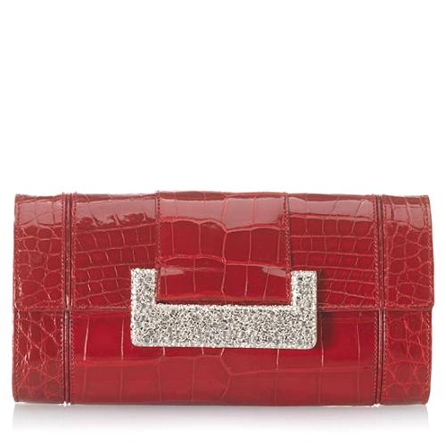 Judith Leiber Brilliant Alligator Evening Handbag