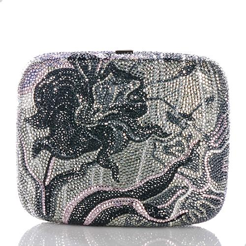 Judith Leiber Crystal Raised Orchid Clutch