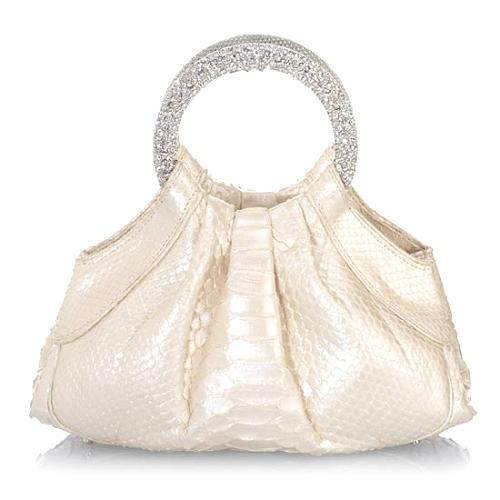 Judith Leiber Python Blaze Evening Handbag