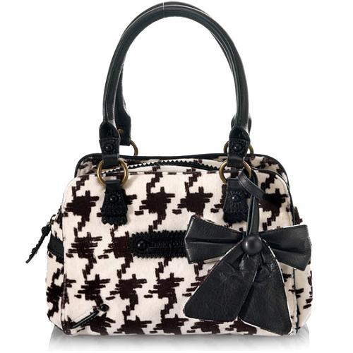 Juicy Couture Brogue Houndstooth Darling Crossbody Satchel Handbag