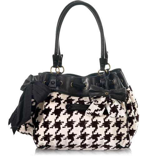 Juicy Couture Brogue Houndstooth Daydreamer Tote