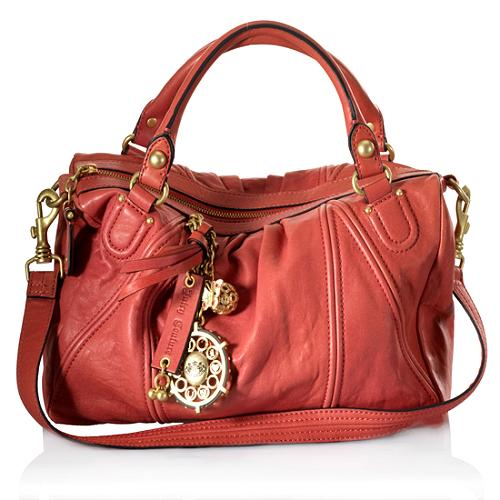Juicy Couture Butterfly China C Leather Satchel Handbag
