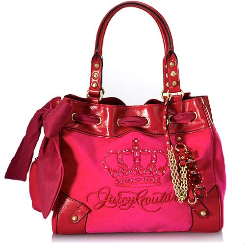Juicy Couture Day Dreamer Large Velour Tote