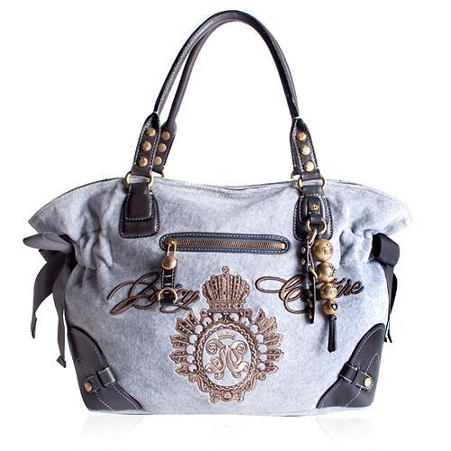 Juicy Couture Flannel Satchel Handbag