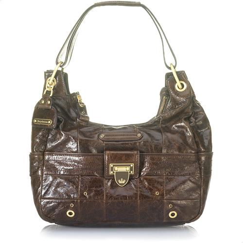 Juicy Couture Flap Lock Hipster Handbag