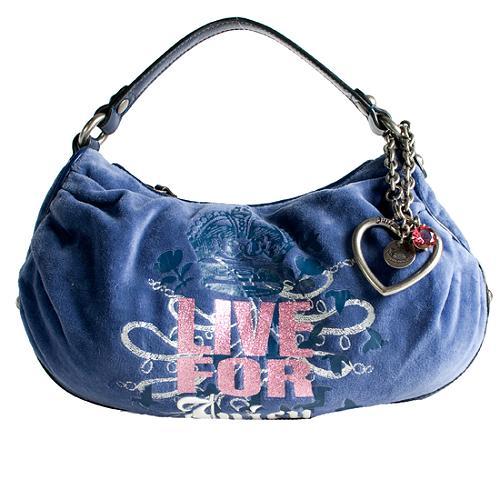 Juicy Couture Glitter Glam Big City Hobo Handbag