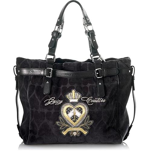 Juicy Couture Heart Jacquard Dearest Hobo Handbag
