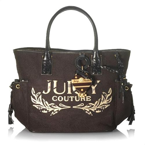Juicy Couture Heart & Tassel Heritage Terry Tote - FINAL SALE