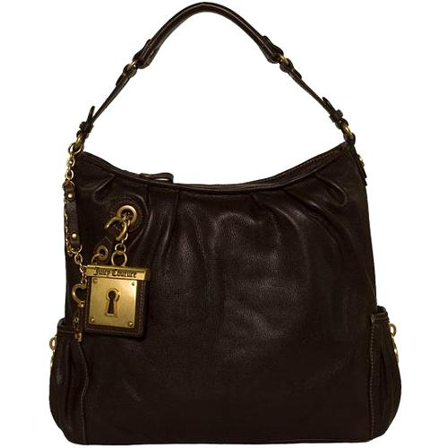 Juicy Couture Iconic Key Medium Drew Hobo Handbag