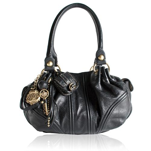 18ca42cc0f01 Juicy Couture Leather  Baby Fluffy  Satchel Handbag