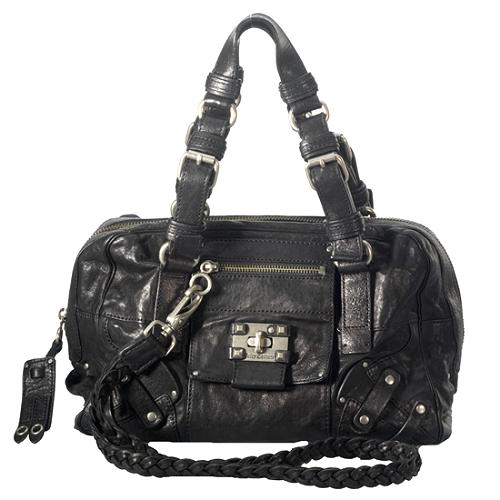 Juicy Couture Leather Lock-It Satchel Handbag