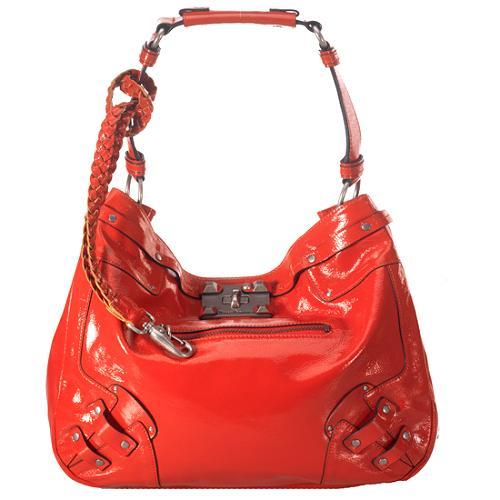 Juicy Couture Lock-It Mean It Patent Shoulder Handbag