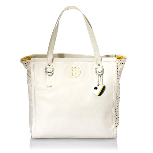 Juicy Couture Perfed Leather Paisley Tote
