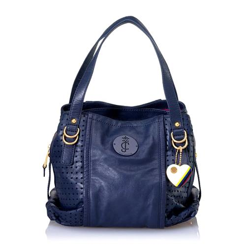 Juicy Couture Perfed Leather Pippa Satchel Handbag