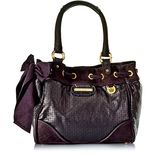 Juicy Couture Perforated Heart Leather Day Dreamer Tote