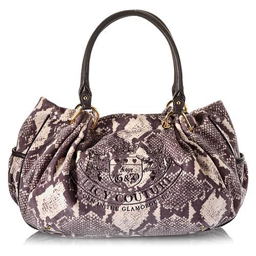 Juicy Couture Python Print Day Fluffy Satchel Handbag