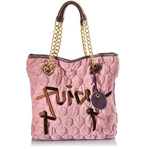 Juicy Couture Quilted Circles Velour Tote