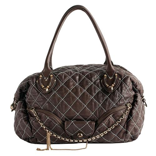 Juicy Couture Quilted Leather Tote