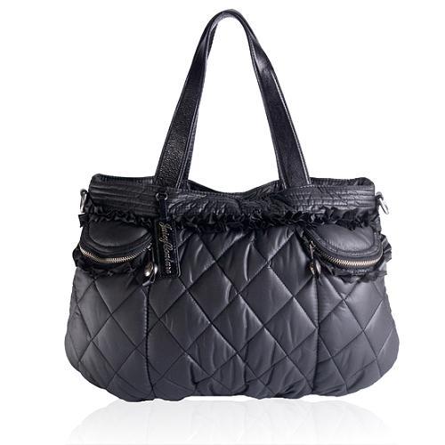 Juicy Couture Quilted Nylon Satchel Handbag