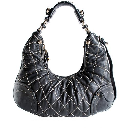Juicy Couture Quilted Princess Hobo Handbag