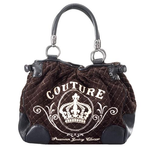 Juicy Couture Quilted Velour Tote