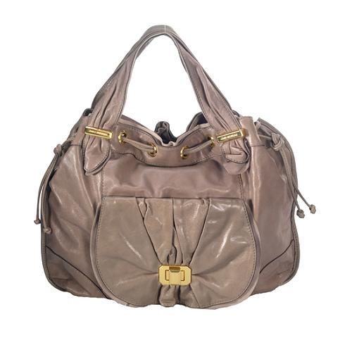 Juicy Couture Riviera Monaco Large Leather Hobo Handbag
