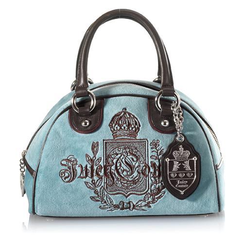 Juicy Couture Velour Bowler Handbag