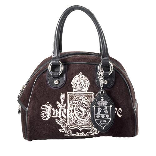 Juicy Couture Velour Bowler Satchel Handbag