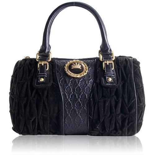 Juicy Couture Velour Crown Satchel Handbag