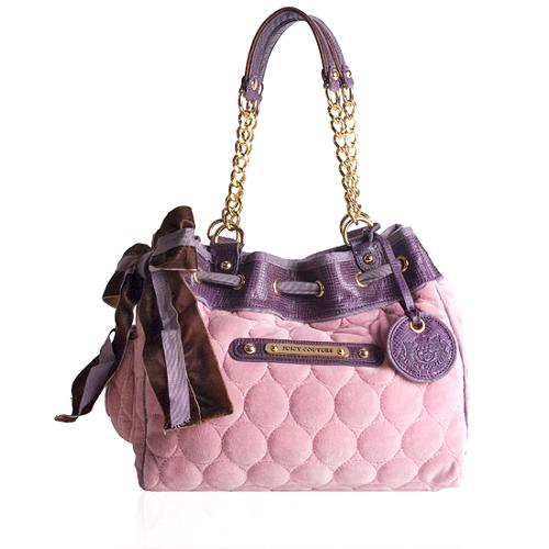 Juicy Couture Velour Tattered Daydreamer Tote