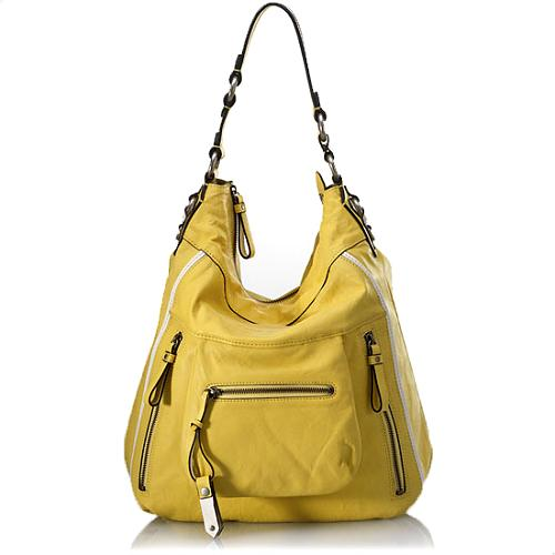 Juicy Couture Wilshire Medium Leather Hobo Handbag