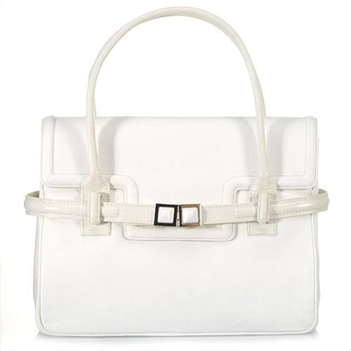 Kara Ross Vita Pebbled Leather Handbag