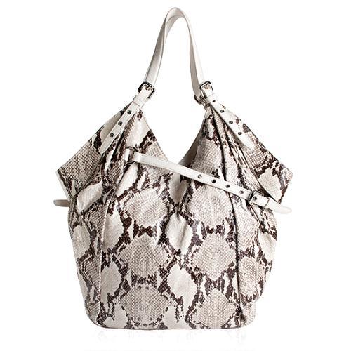 Kooba Dale Embossed Python Hobo Handbag