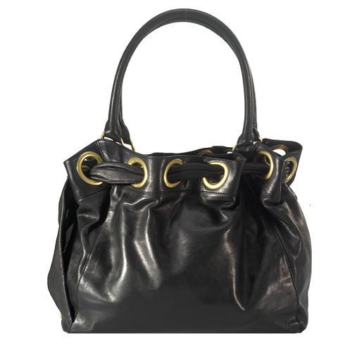 Kooba Grommet Satchel Handbag