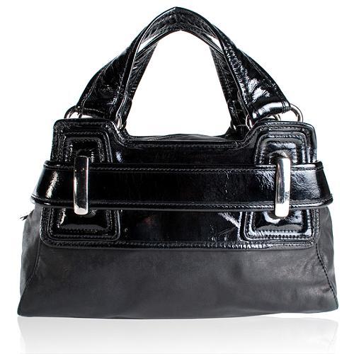 Kooba Leather Belted Medium Satchel Handbag
