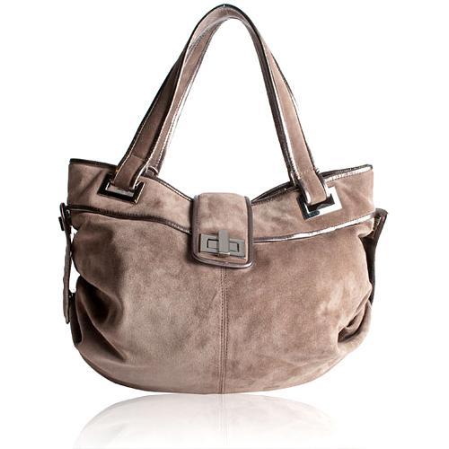 Kooba Natasha Suede Shoulder Handbag