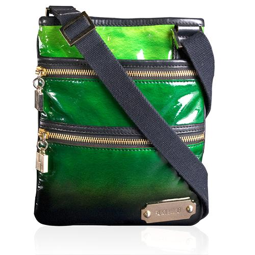 L.A.M.B. Ombre Patent Belfast Crossbody Handbag