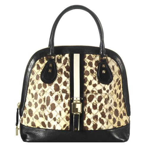 L.A.M.B. Rowington Top Zip Dome Satchel Handbag