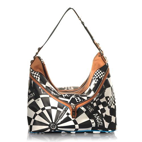L.A.M.B. Signature Grandvale Large Hobo Handbag