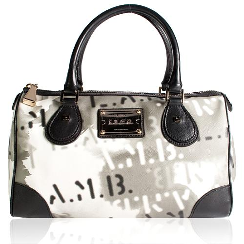 L.A.M.B. Signature Greenwood Satchel Handbag